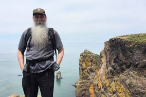 Bruce at Cape Split, NS