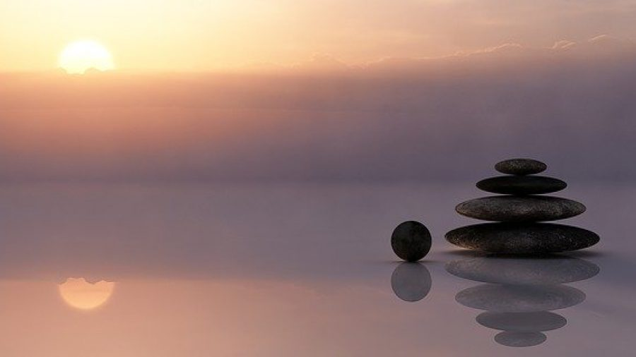 photo: stones at sunset