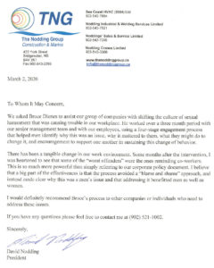Letter of Support from the Nodding Group
